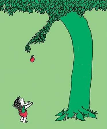 "(from ""The Giving Tree"" by Shel Silverstein)"